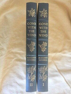 GONE WITH THE WIND  2 Volume Set  Easton Press LEATHER  Mint    Never Read