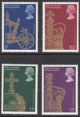 GB Stamps 1978, 25th Anv of Coronation, set of 4 Mint Never Hinged. SG 1059-1062