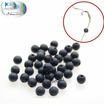 100pcs Carp Fishing Beads Round Soft Rubber Rig Beads Fishing Floating Tackles