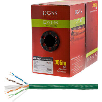 305M Cat6 Solid Cable Green Sold As 305M Roll Only