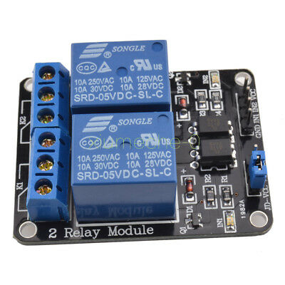 5V Two 2 Channel Relay Module With optocoupler For PIC AVR DSP ARM Arduino