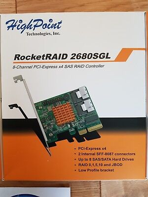 Highpoint Rocket RAID 2680SGL x2 RAID Controller including 2x Cables