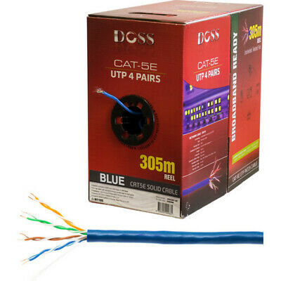 305M Cat5E Solid Cable Blue Sold As 305M Roll