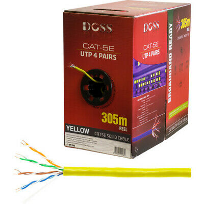 305M Cat5E Solid Cable Yellow Sold As 305M Roll