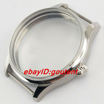 44mm Stainless Steel Watch Case Fit ETA 6497/6498 Seagull ST36 Series Movement