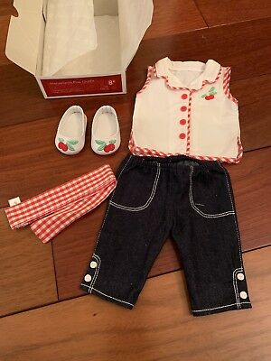 American Girl MARYELLEN PLAY OUTFIT~Red~Cherry shoes~Capris