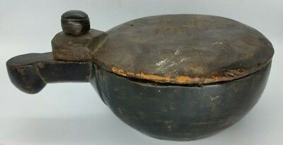 Antique Native American Indian Burl Wood Hand Carved Medicine Bowl 18th Century