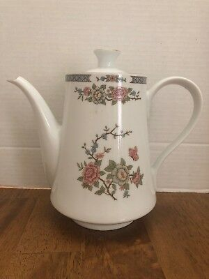 Liling Fine China Flower Teapot with Gold Trim Yung Shen China