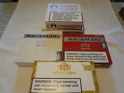 MACANUDO Wooden Cigar Boxes Empty LOT OF 5 Lot # 206