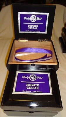 ROCKY PATEL PRIVATE CELLAR  Wooden Cigar Boxes Empty BLACK Lot of 7   #112