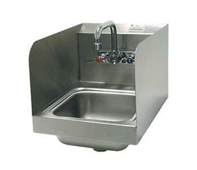 "Advance Tabco Wall Mount Hand Sink 9""x9""x5"" Bowl w/ Side Splashes & Faucet"