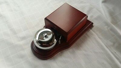Vintage Style Electric Door Butler Alarm Shop Bell Mahogany Finish Chrome Dome