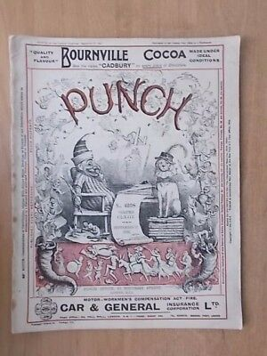 VINTAGE PUNCH MAGAZINE SEPTEMBER 27th 1922 HUMOUR - CARTOONS - ADVERTS FREE POST