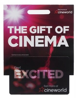 cineworld gift card £20