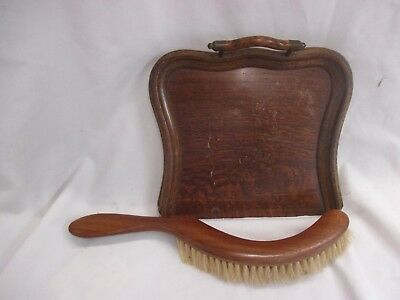Vintage Wooden Crumb / Table Brush & Tray Set