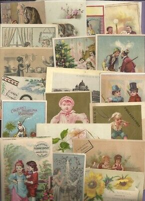 Trade Cards MIXED LOT SOAP COLOGNE CLOTHING SPICES EYE WASH GLUE 25 Cards #1