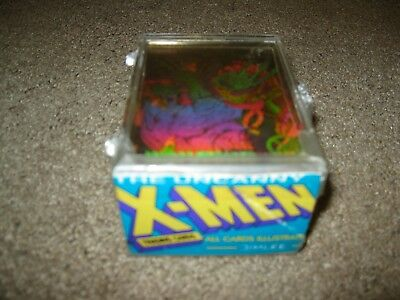 1992 Marvel X-Men Complete 100 Base Card Set with Complete Hologram Set