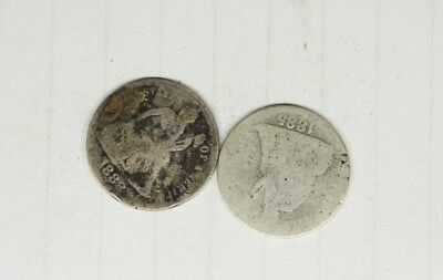 Seated Liberty Dimes 1888 / 1885 .................1-14-28