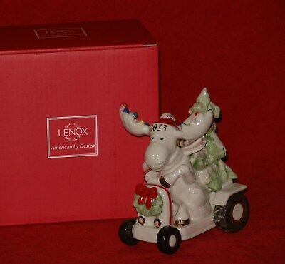 Lenox MERRY MOOSE BRINGING HOME THE TREE Ornament Christmas Marcel Annual 2013