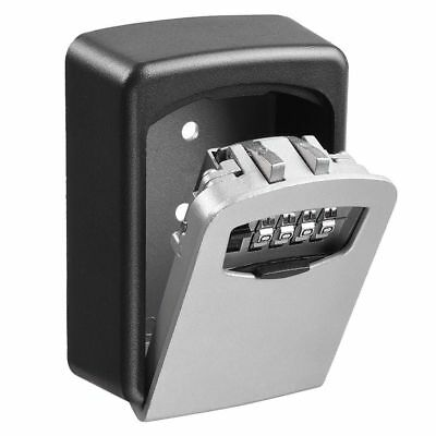 Aluminum Wall Mount Key Box& 4-Digit Combination Home Security Lock Safe Storage