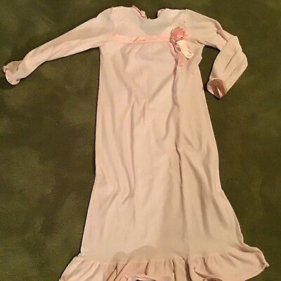 Vintage Her Majesty Pink Night Gown - Girl's Size 8