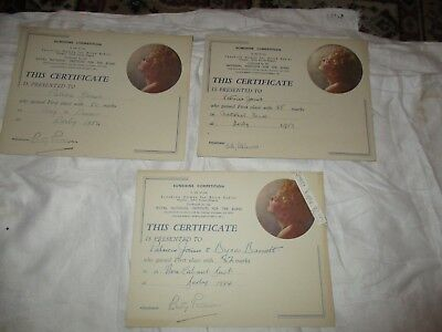 Job Lot Sunshine Homes For Blind Babies Royal Institute For Blind 3 Certificates