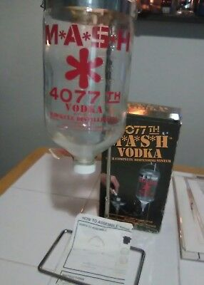 MASH 4077 Vodka Dispenser - Straight from the Swamp  80's Decanter. Used