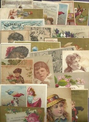 Trade Cards MIXED LOT SHOES COLOGNE DYES QUACK MEDICINE FURNITURE 25 Cards #2