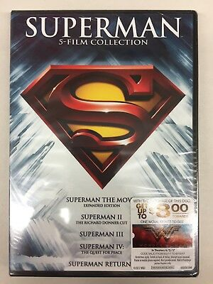 Superman: 5 Film Collection (DVD)**New, Free Shipping **