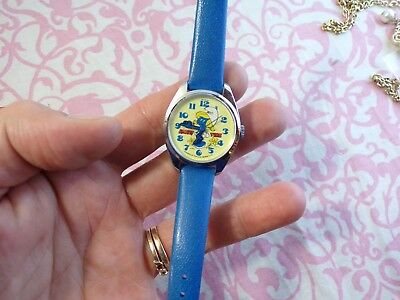 SMURFET WATCH BRADLEY TIME DIVISION 1980s vintage new old stock wind and works