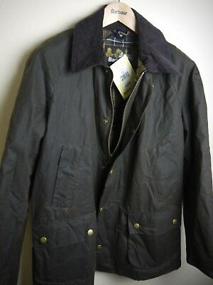 Barbour Men's Ashby Waxed Jacket, New With Tags, Olive Green, Medium