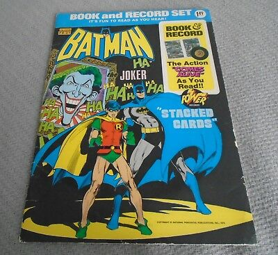 """BATMAN ~ Book & Record Set """"Stacked Cards"""" 45 RPM"""