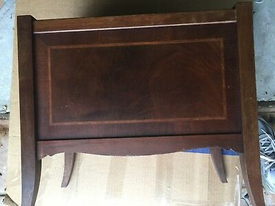 Antique Magazine Rack /canterbury.  Walnut With Inlay.