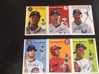 2018 Topps Now Throwback Thursday Set#43 Acuna,Torres,Andujar,Soto,Devers,Bote