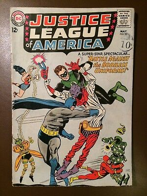 DC comics :  JUSTICE LEAGUE OF AMERICA # 35 ,1965,  VG condition