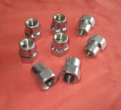 "Lot of 8 Antique 3/8"" FIP X 1/4"" FIP Chrome Reducing Coupling new/old Stock"