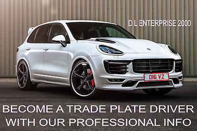 *Become a Trade Plate Driver| Make £750 - £1000 per week - BUSINESS FOR SALE *