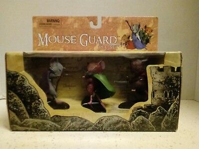 RARE Diamond Select Toys MOUSE GUARD PVC 3 Figure Set Unopened Box