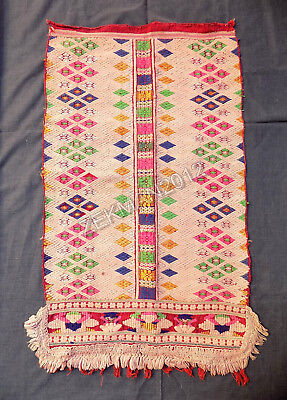 Antique Traditional Folk Bulgarian Hand-woven Woolen Apron from Sliven