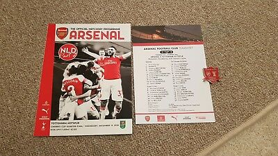 Arsenal V Spurs Carabao Cup Quarter Final 19th Dec 2018 Bundle