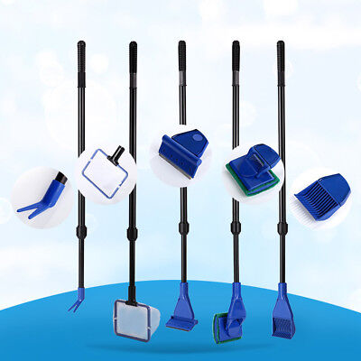 Aquarium Cleaning Tool Fish Tank Algae Vacuum Gravel Cleaner Magnetic Brush KIT