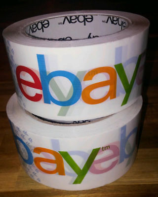 4 Rolls X 75 Yard eBay Branded BOPP Packaging Tape Box Packing Shipping Supplies