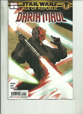 STAR WARS AGE OF REPUBLIC DARTH MAUL #1  Marvel Comics NM 2018