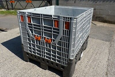 Heavy Duty Collapsable Pallet Box C/w Lid Ex Medical Supply  £80=Vat