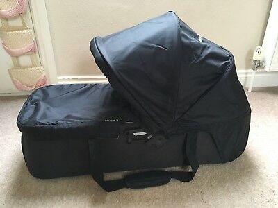 Baby Jogger City Mini Compact Carrycot, Black, including adaptors
