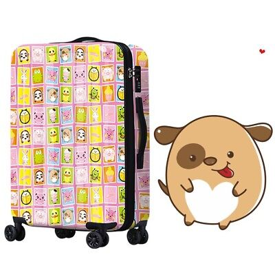 D512 Lock Universal Wheel Cartoon Pattern Travel Suitcase Luggage 20 Inches W