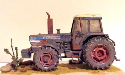 Britains Ford Tw 35 Tractor Code 3 Hedgerow Tractor Dirty Weathered Model