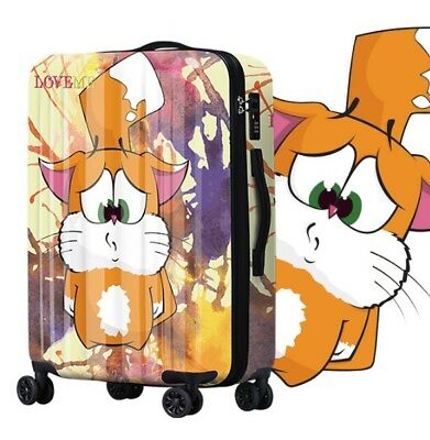 D338 Lock Universal Wheel Multicolor Travel Suitcase Cabin Luggage 20 Inches W