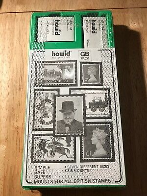 STAMPS - HAWID STAMP MOINTS GB STARTER PACK 7 Sizes 315 MOUNTS