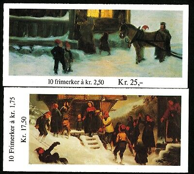 Norway 1982 -83 Two booklets Christmas. MNH